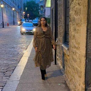 H&M┃Leopard Chiffon Oversized Dress